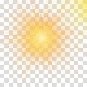 Luz solar céu padrão amarelo, efeito de luz amarela da luz do carro, pintura de sol amarelo PNG clipart