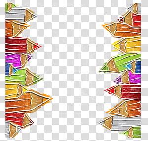 quadro de lápis de cor, lápis de cor desenho de ilustração, lápis de cor ... PNG clipart