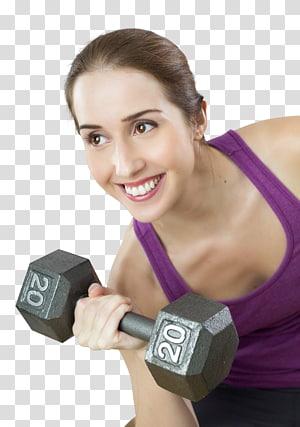 mulher fazendo exercícios, exercício físico aptidão física fitness center saúde personal trainer, jovens se encaixam exercícios de mulher com halteres png