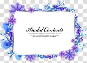 Anúncio de conteúdo Asadal, fronteira de flor roxa bonita dos desenhos animados png