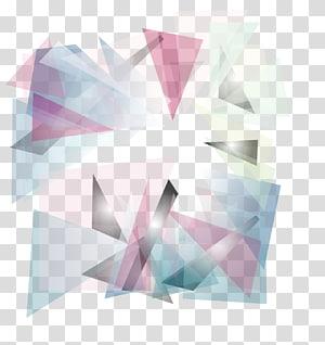 Abstração de geometria euclidiana, abstrato rosa, png