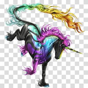 unicórnio preto, Howrse cavalo unicórnio desenho, desenho unicórnio png