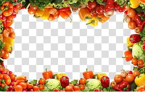 quadro com tema vegetal, aipo de comida de frutas vegetais, padrão de borda vegetal PNG clipart