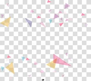 Padrão de ponto de triângulo de papel, fundo geométrico colorido, arte abstrata digital em triângulo de cores sortidas PNG clipart
