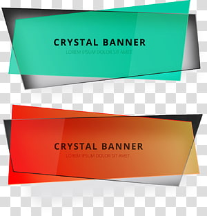 dois cartazes de banner de cristal, texto Adobe Illustrator, caixa de título em ppt png