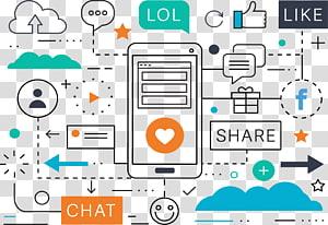 ilustração de smartphone, social media marketing Marketing digital Publicidade, ilustração Social Media Marketing PNG clipart