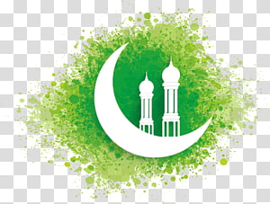 Mesquita do Ramadã Eid al-Fitr Islam Eid Mubarak, material islâmico, lua crescente branca PNG clipart
