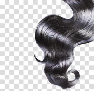 cabelo preto ondulado, integrações artificiais com cabelo Cabelo preto Penteado loiro, cabelo preto PNG clipart