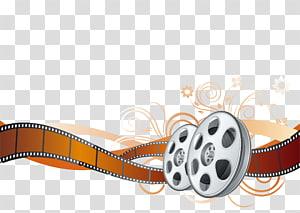 tira de filme, Cinema Cinema, carretel de filme colorido PNG clipart