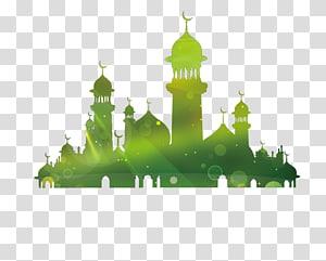 eid, al-fitr, eid, mubarak, eid, al-adha ramadan, mawlid, mesquita, silueta, castelo, ilustração PNG clipart