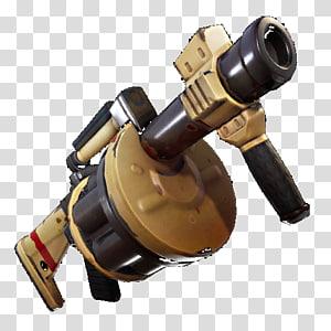 ilustração do lançador de granadas preto e cinza, lançador de granadas de armas Fortnite Battle Royale, jogo Battle royale, lançador de granadas png