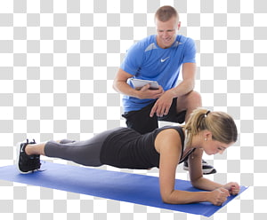 sorrindo, homem assistindo, mulher, flexionar, treinador pessoal, aptidão física, exercício físico, centro aptidão, treinamento, pilates png