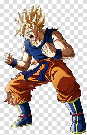 Son Goku Super Saiyan ilustração, Goku Vegeta Cell Frieza Android 18, dragon ball z png