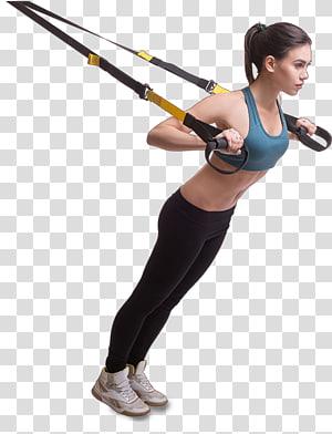 cinta preta e amarela, equipamento para exercícios físicos, aptidão física Fitness center Treinamento em suspensão Princeton Club, mulher png