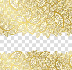 Quadro de folha de metal, laço amarelo floral PNG clipart