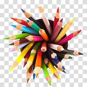 lápis de cor sortida em recipiente, desenho a lápis desenho, lápis de cor PNG clipart