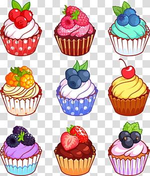 queque, Cupcake Muffin Gugelhupf Cartoon, cupcake de frutas png