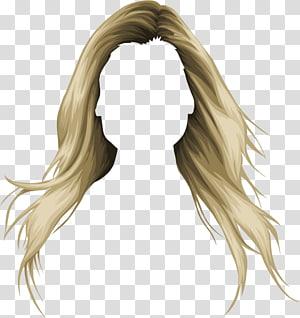 ilustração de longos cabelos loiros, moda de peruca de cabelo Stardoll, cabelo de mulher PNG clipart