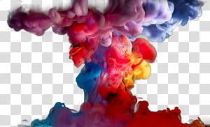 Fumaça colorida, fumaça colorida s, ilustração de fumaça multicolorida PNG clipart