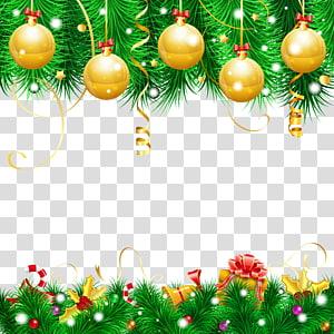 bauble Natal ouro, decoração de natal enfeite de natal árvore de natal, decoração de natal PNG clipart
