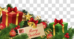Caixas de presente de natal, decoração de natal enfeite de natal, decoração de natal PNG clipart