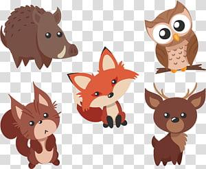 ilustração animal, material de animais fofos Waibo PNG clipart