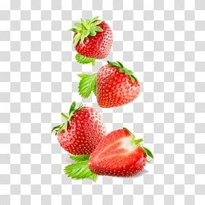 quatro morangos, suco de smoothie de morango, comer frutas frutti di bosco, morango png