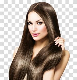 mulher segurando o cabelo dela, ferro de cabelo alisamento de cabelo integrações artificiais do cabelo cuidados com os cabelos, cabelo PNG clipart