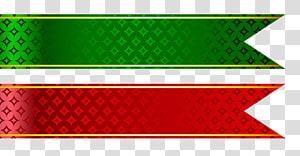 Fita adesiva Web banner, conjunto de fitas vermelhas e verdes, duas fitas vermelhas e verdes png