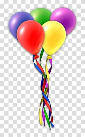 Bolo de aniversário Presente de balão, balões PNG clipart