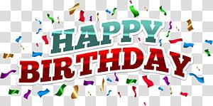 Bolo de aniversário, feliz aniversário colorido, texto de feliz aniversário em fundo azul png