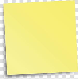 Ângulo amarelo de papel, lembrete png