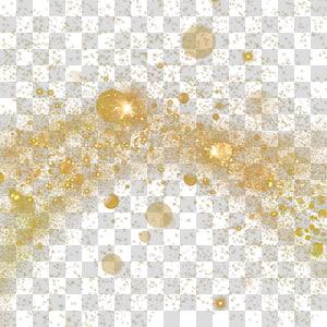 Light Dust Particle Gold, Spot de ponto de ouro, brilhos de ouro PNG clipart