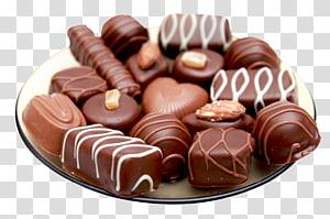 lote de chocolate, sorvete Trufa de chocolate Barra de chocolate Comida, Chocolates em Prato PNG clipart