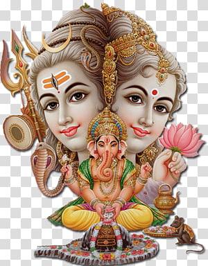 Shiva Parvati Ganesha Hinduísmo, senhor Shiva, ilustração de Ganesha PNG clipart
