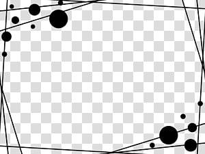 Slide de apresentação do Microsoft PowerPoint Apresentação de slides Modelo, borda simples, modelo de borda de bolhas brancas e pretas PNG clipart