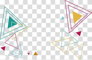 Triângulo Euclidiano Arquivo de computador, Linhas de cores Triângulo padrão, triangular PNG clipart