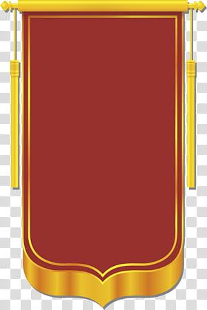 Banner CorelDRAW, material de modelo de banner, logotipo vermelho e amarelo, adivinhando o aplicativo do jogo PNG clipart