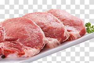 três carnes fatiadas, bisteca de porco Porco doméstico Schnitzel Carne de porco, Carne PNG clipart