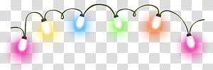 Luzes de Natal Iluminação Animação, Luzes de Natal, luzes multicoloridas png