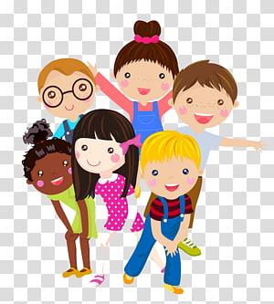 Criança Cartoon ilustração, criativo crianças férias, crianças ilustração colorida PNG clipart