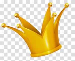 Coroa, coroa de ouro, ilustração da coroa de cor dourada PNG clipart