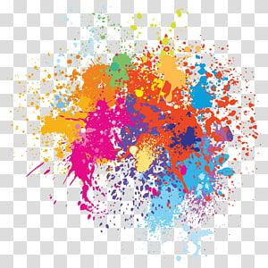 Pintura em aquarela Ilustração, Spray de cor pintado, pintura abstrata multicolorida PNG clipart