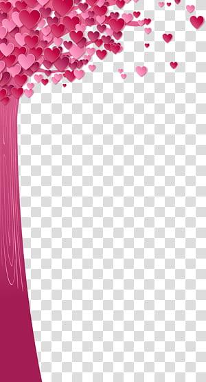 Adesivo de Parede Papel Flipkart, árvore de amor dia dos namorados, ilustração da árvore-de-rosa png