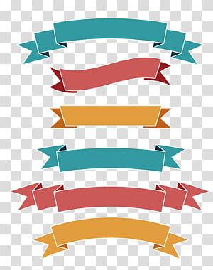 ilustração de fitas multicoloridas, banner da Web de rótulo de fita, fita plana simples png
