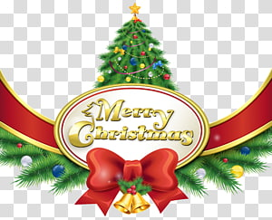 Feliz Natal ilustração, véspera de Natal Papai Noel feliz Natal, boas festas, feliz Natal com árvore e arco png