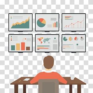 gráfico gráfico na frente da pessoa, Analytics Big data Optimization do Search Engine Marketing, Business office pattern PNG clipart