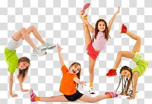 Dança de várias meninas, Aptidão física Exercício físico Criança Fitness Center Esporte, acampamento de verão png