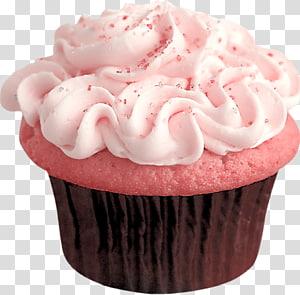 Cupcake com glacê ilustração, Cupcake Frosting & Icing Dessert Candy, Baunilha png