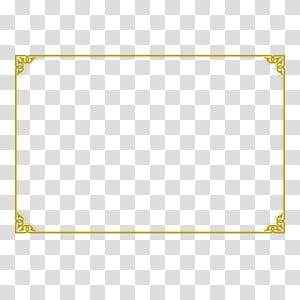 Ícone de ângulo, borda de certificado, moldura quadrada marrom png